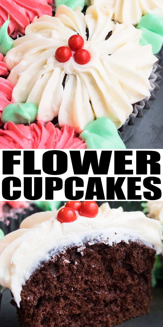Learn how to make easy FLOWER CUPCAKE BOUQUET with frosting. This pull apart flower bouquet cupcake cake is great for Mother's Day or Valentine's Day parties. From cakewhiz.com #Ad #DoughBoySurprise #cupcakes #dessert #valentinesday #valentine #mothersday #frosting #sweet #cakedecorating