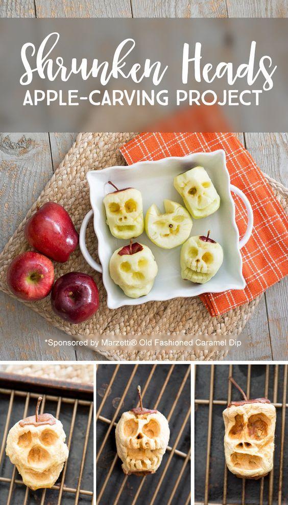 http://letslassothemoon.com/2016/10/19/carve-apples-shrunken-heads/