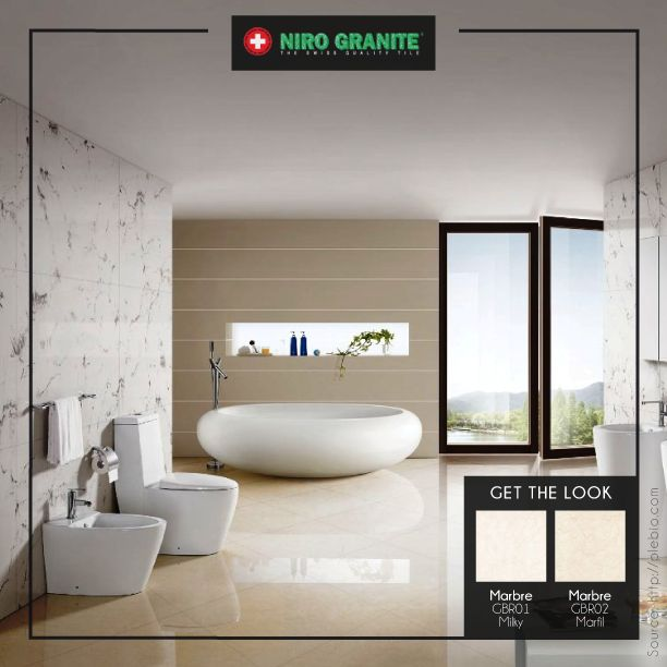 Give your bathroom's wall an overhaul with the stunning Niro Granite's Marbre collection. Designed to fulfill your need for stylishness and elegance, Marbre is perfect to define and become a symbol of sophistication of your room. Click http://www.nirogranite.co.id/product/marbre for more details on Marbre collection.