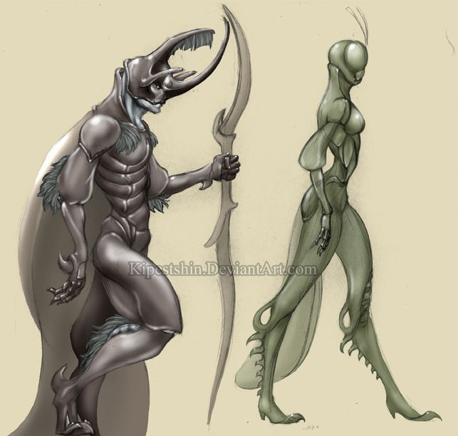 Image result for humanoid bug creature