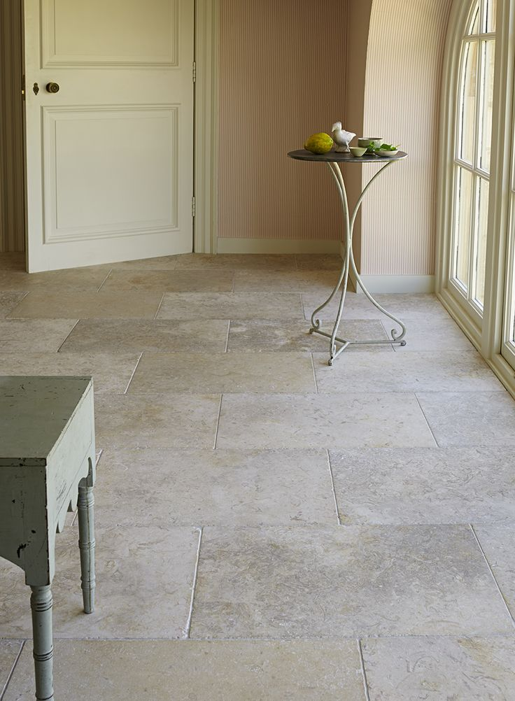 Jerusalem White Gold Tumbled limestone flooring creates an elegant and timeless stone floor | Mandarin Stone