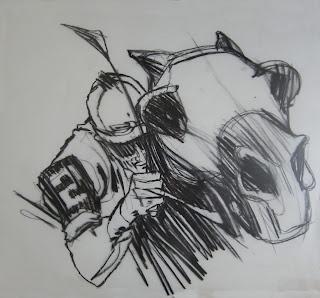 ILLUSTRATION ART: August 2012 drawing by Bob Peak