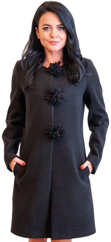 Palton de dama Ava negru