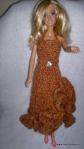 vestito uncinetto barbie schema e tutorial  e90f03da7ade