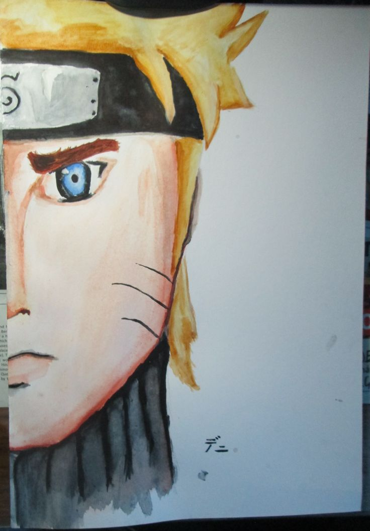 I tried to paint Naruto with aquarelle..