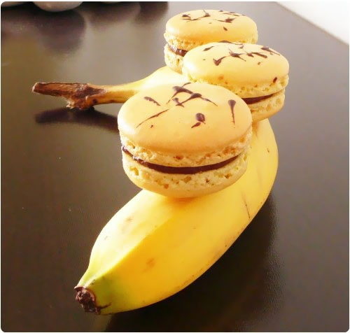 Macaron banana split
