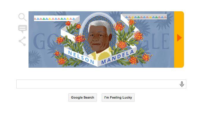 Nelson Mandela Google Doodle on His Birth Anniversary Today • vlogg.com