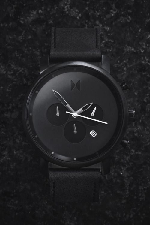 """themanliness: """"The Black Chrono from MVMT Watches. Check out all the models on their website. Click the link and use the coupon """"themanliness"""" for $10 off your order! Photographer! Join the MVMT """""""