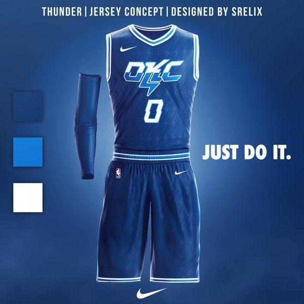 da4e47c272a Oklahoma City Thunder Jersey Concept