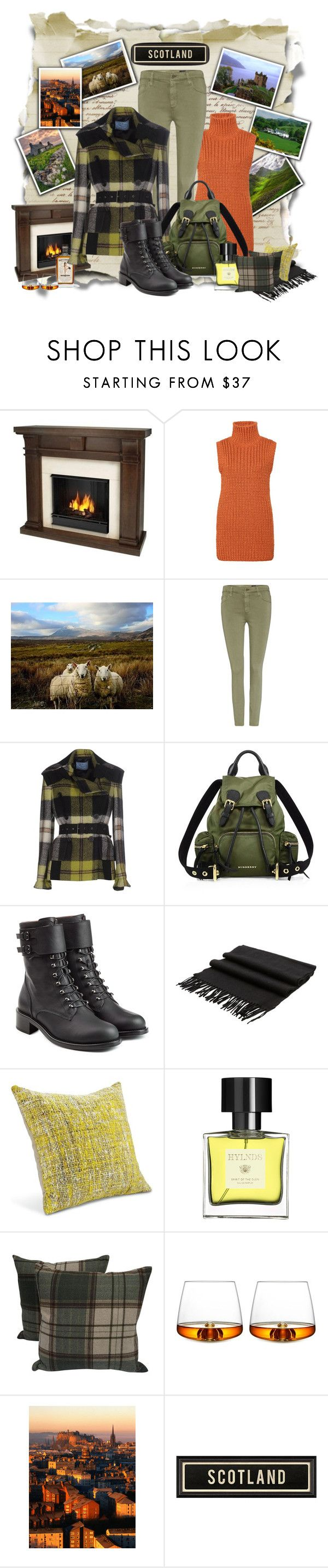 """""""If I were on a Tartan Tour..."""" by pomy22 ❤ liked on Polyvore featuring Lonely Planet, Real Flame, AG Adriano Goldschmied, Prada, Burberry, Philosophy di Lorenzo Serafini, Begg & Co, Hylnds, Normann Copenhagen and Boots"""