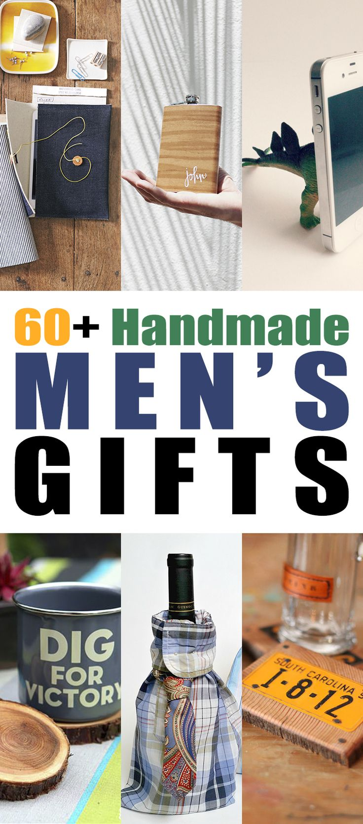 It is always a dilemma when you are trying to think of a handmade gift to make for some of the special men in your lives…what to make that they will use?  So I thought that it would be a good idea to compile a collection of 60+ Handmade Men's Gifts that he will actually …