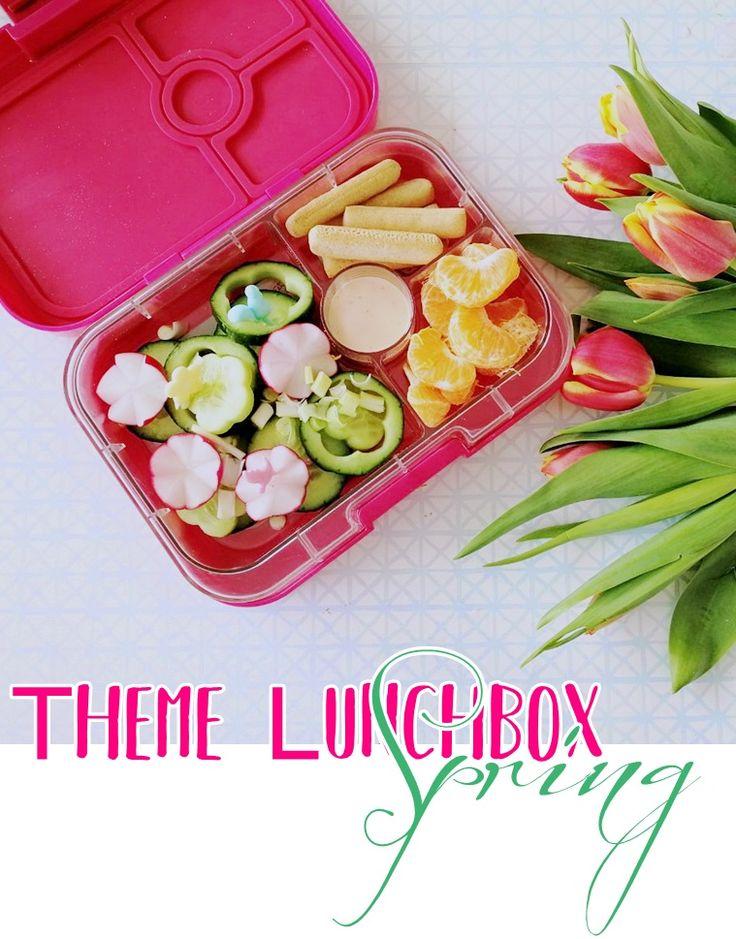 Themen Yumbox Frühling Inspiration für Kinder, Lunchbox Idea for Kids, School, Kindergarten