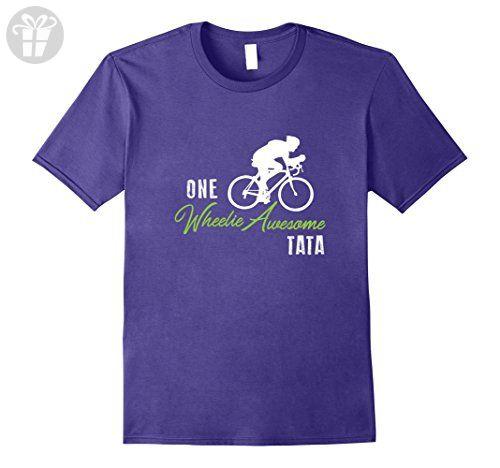 Mens Wheelie Awesome Tata Shirt, Funny Bike Cute Cycling Bicycle  Large Purple - Funny shirts (*Amazon Partner-Link)