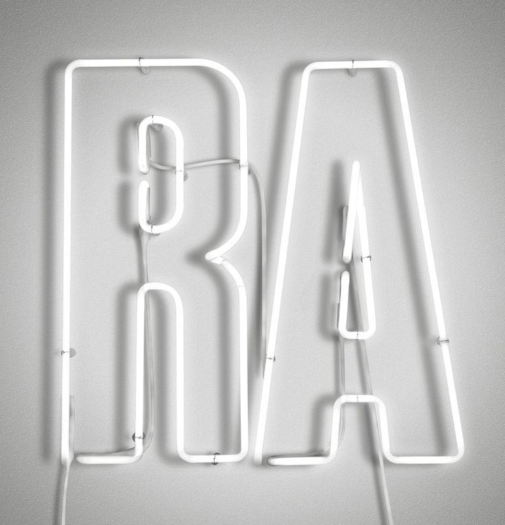 From Pentagram:  RA Now neon signage.