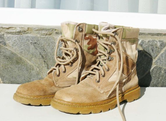 Hey, I found this really awesome Etsy listing at https://www.etsy.com/listing/221354479/vintage-comfortable-desert-combat-boots