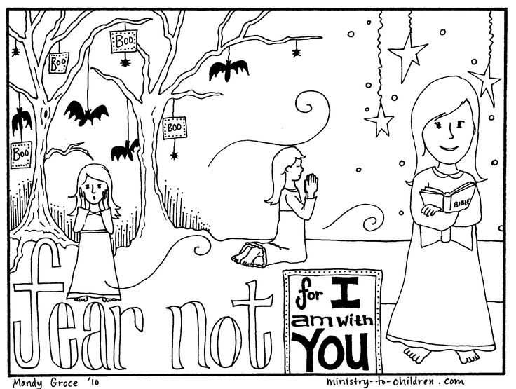 halloween sunday school coloring pages - photo#23