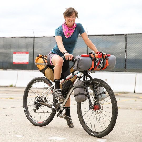 Packing less, distributing it around the bike--not depending on big panniers