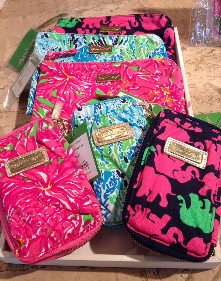 Lilly Pulitzer Carded ID Wristlets and Pick Me Up Pouches