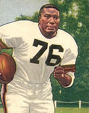 South Carolina State alum Marion Motley was a NFLfullback and linebacker who played for the Cleveland Browns in the All-America Football Conference. He was a leading pass-blocker and rusher in the late 1940s and early 1950s, and ended his career with an average of 5.7 yards per carry, a record for a fullback that still stands.