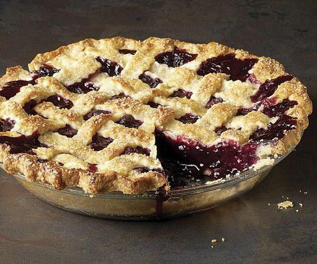 Classic Blueberry Pie with Lattice Crust | Keep reading for 24 Recipes for Blueberry Pie Day