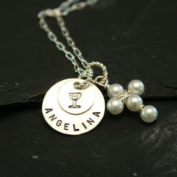 Sterling 1st Communion Necklace by CharmsofFaith on Etsy, $29.00