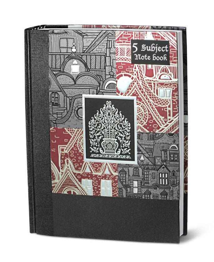 Experience the comfort in writing in premium quality 5 subject notebook with high end paper notebooks in design B is ready online in stock at nightingale online store.