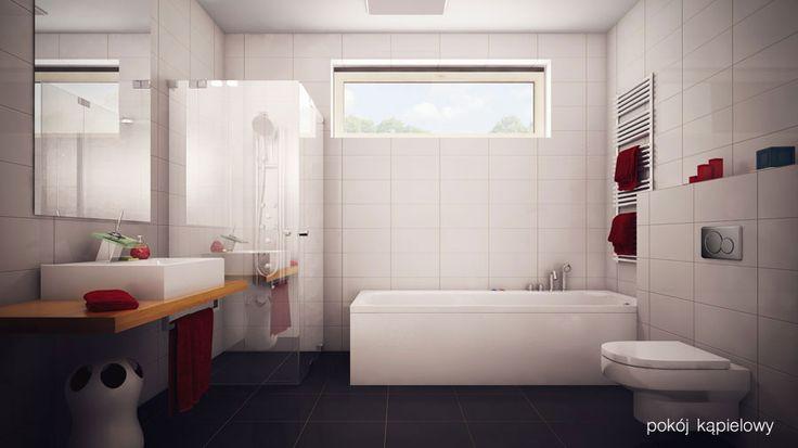 Komfortowy pokój kąpielowy z dużą wanną i natryskiem - idealny, by szybko zacząć dzień, perfekcyjny, by zrelaksować się po pracy!