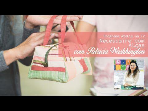 Aprenda a fazer uma necessaire charmosa em patchwork com Patricia Washhi...