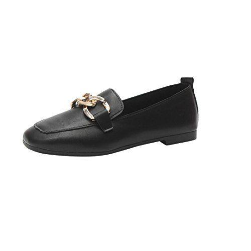 c0d42df24467 DENER Womens Ladies Girls Summer Black Flat Work Shoes