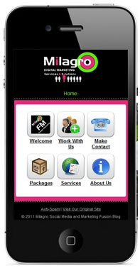 Mobile Website Design Templates | Icon Navigation    ----BTW, Please Visit:  http://artcaffeine.imobileappsys.com