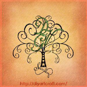 Albero trittico DGV e simbolo infinito family