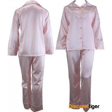 Rug up for winter and dream the night away in these gorgeous soft pink satin pyjamas pj's. Wide cuffs on both pants and shirt. Beautifully made, you won't want to take these off. Also make great gift ideas for hard to buy for friends or family.