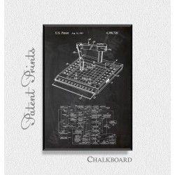 Robot Computer Chess Game Patent Print