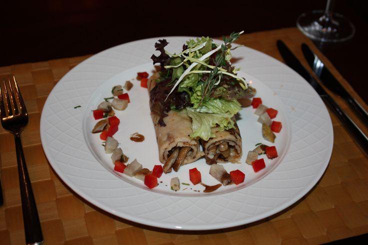 Buckwheat Pancakes with Mushrooms