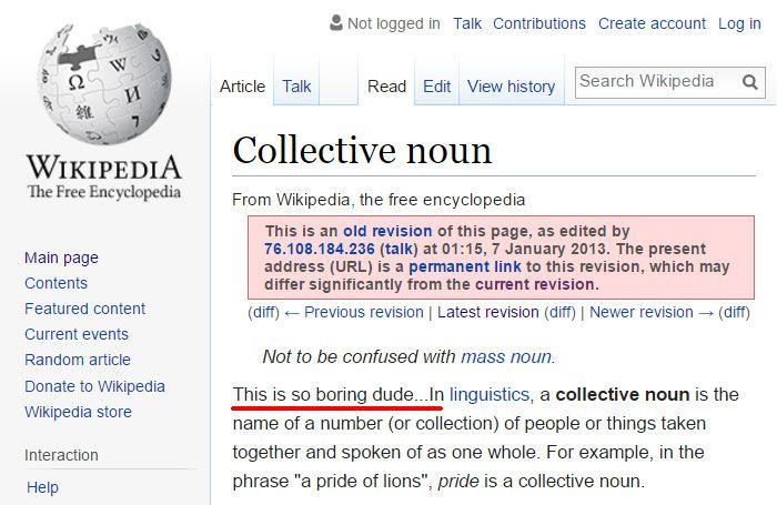 Funny Wikipedia Edits Wikipedia Silly Memes Edit