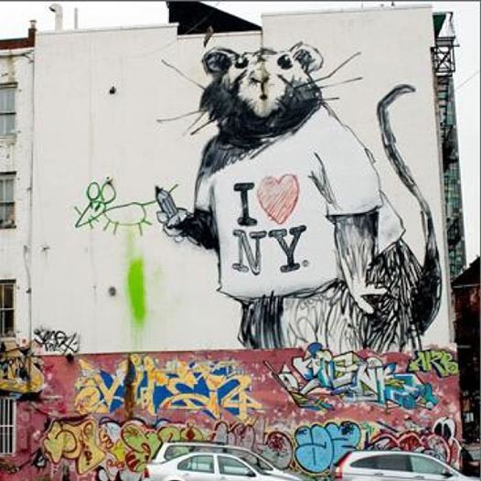 Foto: July 4 and stuff.  #banksy #streetart