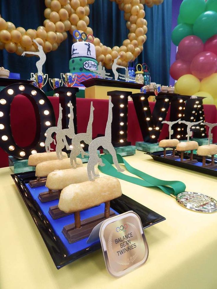 Gymnastics Birthday Party Ideas | Photo 1 of 14  it says balance bean heh