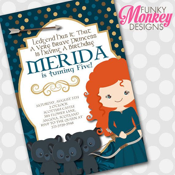 Hey, I found this really awesome Etsy listing at https://www.etsy.com/listing/197727020/diy-personalized-princess-merida-brave