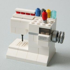 A Lego sewing machine! Wonder if I can get my little guy to make me one of these?