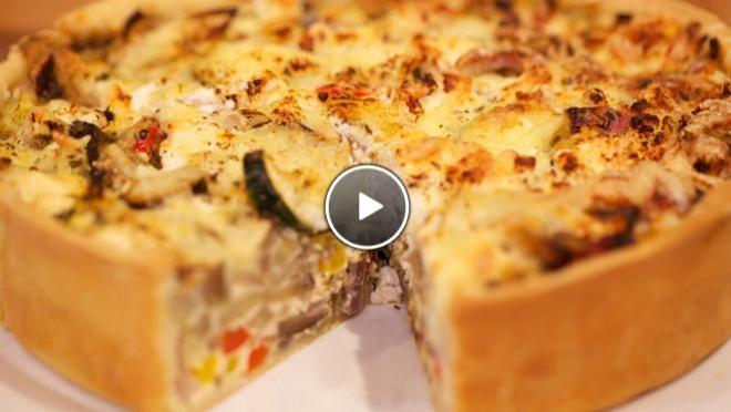 Provencaalse quiche met geroosterde groenten - recept   24Kitchen