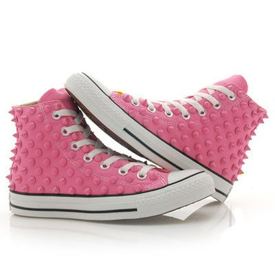 Converse Studded Chuck Taylor Studded Converse High Top Pink Shoes Pink Stud   eBay