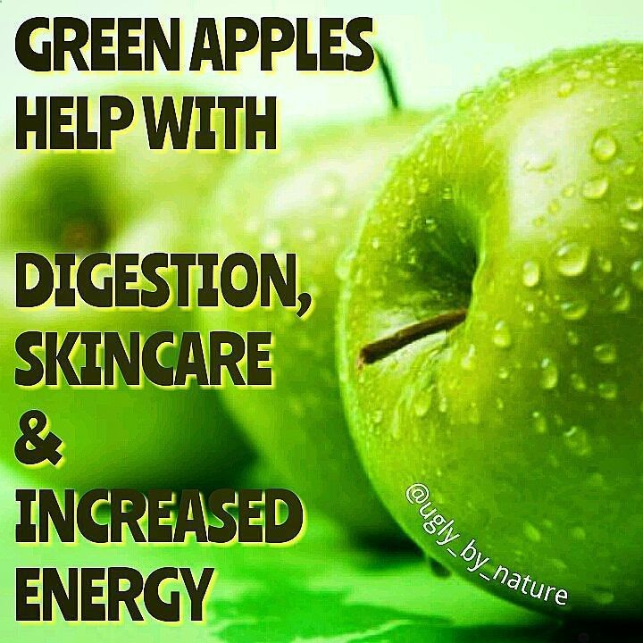 Health Benefits of Green Apples _ High fiber content helps with bowel movements digestion reduced risk of colon cancer and reduction of cholesterol _ These apples secrete organic acid. Organic acid can help with your appetite. If you have intestinal peristalsis eating green apples can help. Increase energy by eating green apples. They have carbs which are good for sustaining energy levels. Another benefit of green apples is maleic acid and tartaric acid which helps with indigestion. _ ...