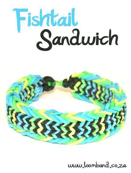 Fishtail Sandwich Loom Band Bracelet Tutorial