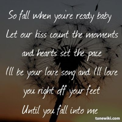 Fall into me... I'll catch you baby... let's show the world what true love looks like!!!