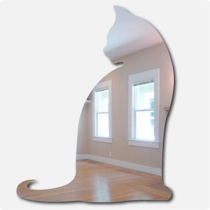 Cat Mirror Stickers, Wall Decoration with Cat Images