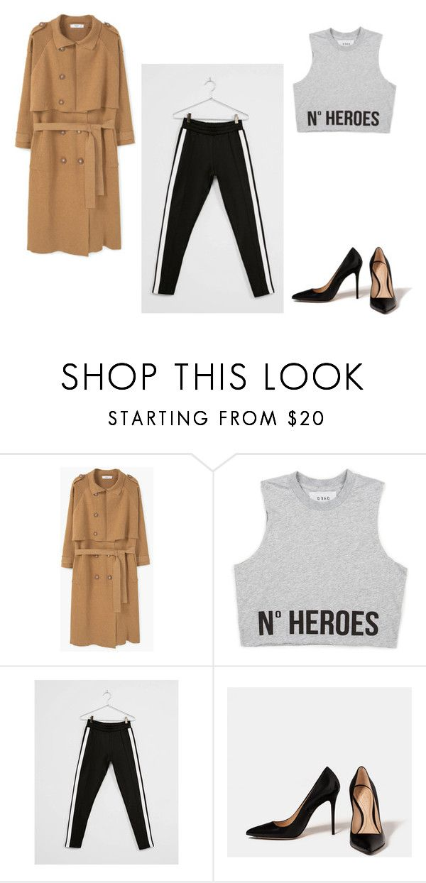 """Untitled #5"" by baloghandrea on Polyvore featuring MANGO, Bershka and Piel Leather"