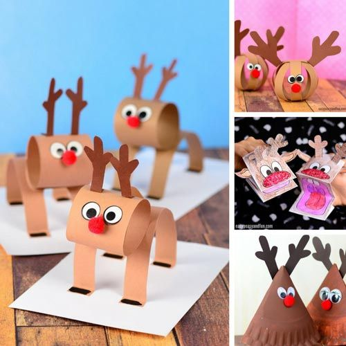 3d construction paper reindeer 358 best jolly crafts for images on 3294