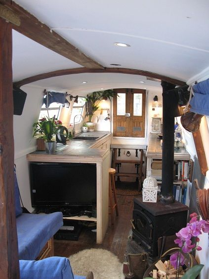 Beautiful Narrow Boat And Houseboat Interior Design For Inspiration And  Some Clever Compact Living Solutions Part 88