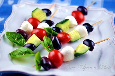 Once Upon a Plate: Mediterranean Appetizer Skewers
