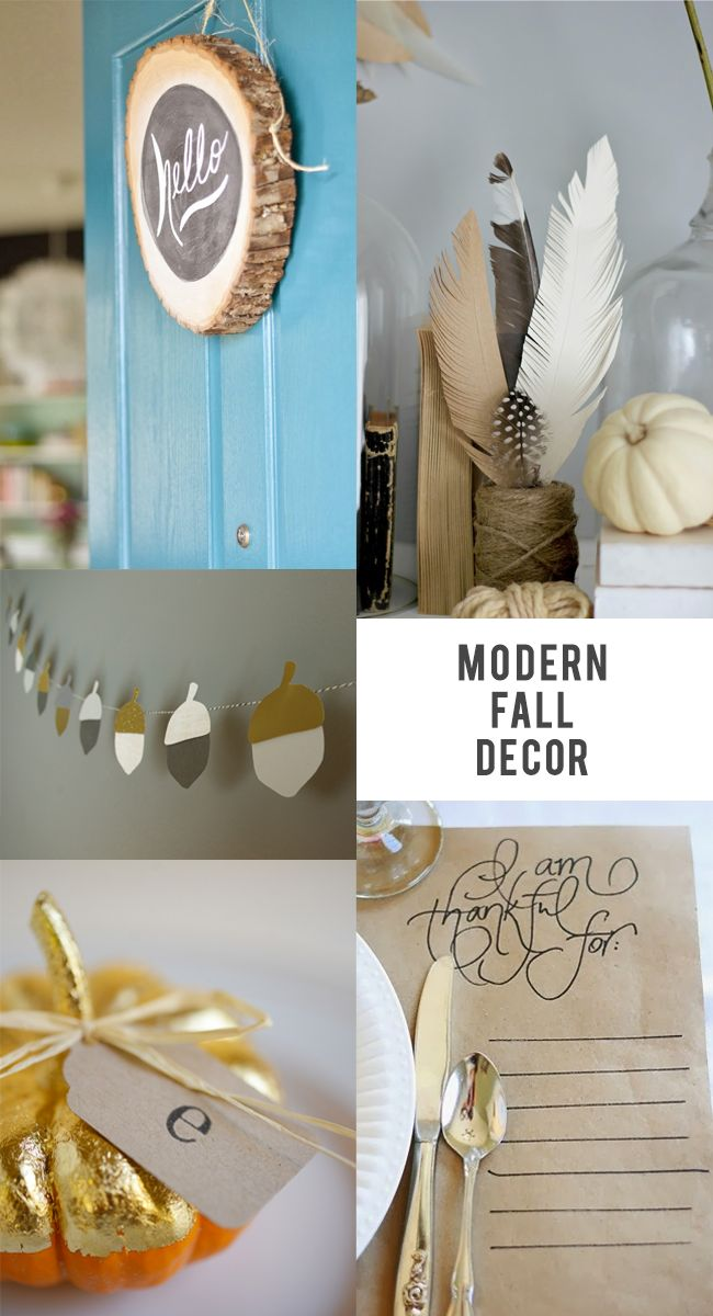 Bubby and Bean ::: Living Creatively: Modern Fall Decor Favorites
